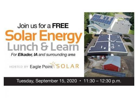 SOLAR ENERGY LUNCH & LEARN – ELKADER, IA
