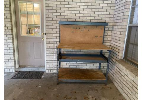 Utility table and solid wood door