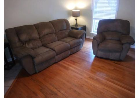 Clean recliner seat and sofa.